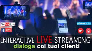 Live streaming strumenti di marketing durante e dopo l'evento aziendale