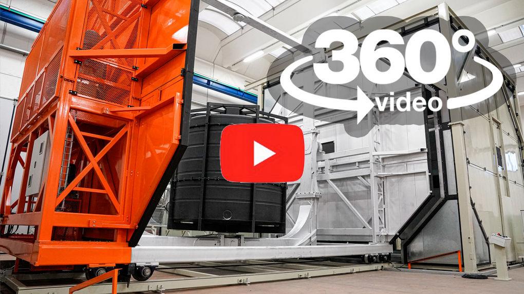 video 360 VR macchina stampaggio rotazionale